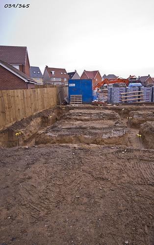 budowa domu - -fundamenty